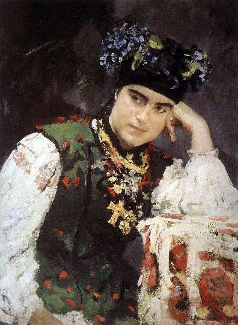 Portret S. M. Dragomirova   Valentin Serov