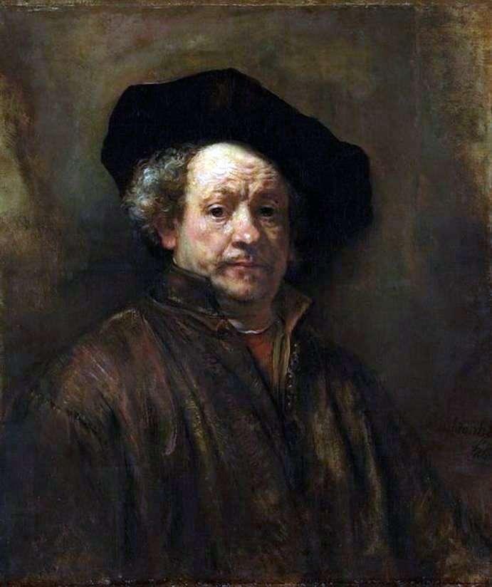 Autoportret w wieku 54 lat   Rembrandt Harmens Van Rhine