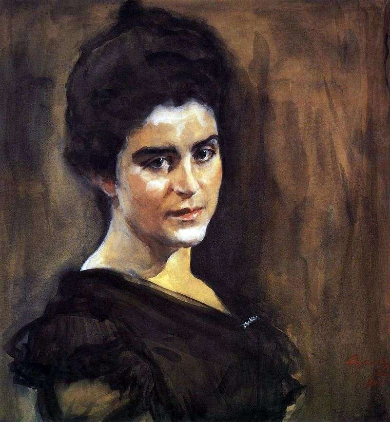 Portret S. M. Dragomirova Lukomskaya   Valentin Serov