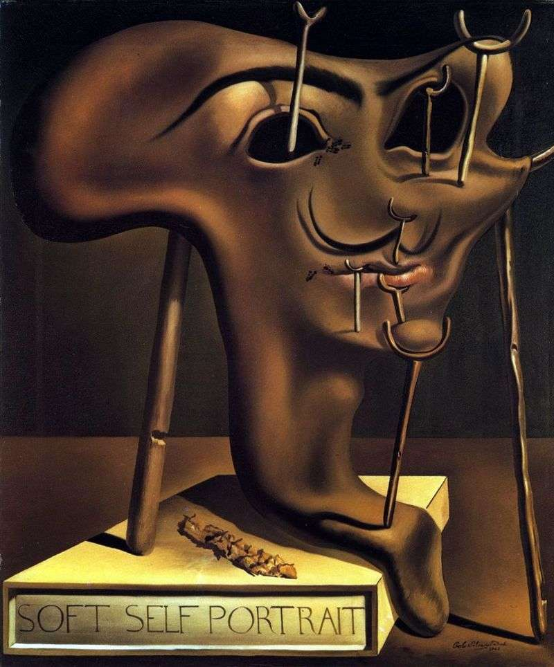 Miękki autoportret ze smażonym boczkiem   Salvador Dali