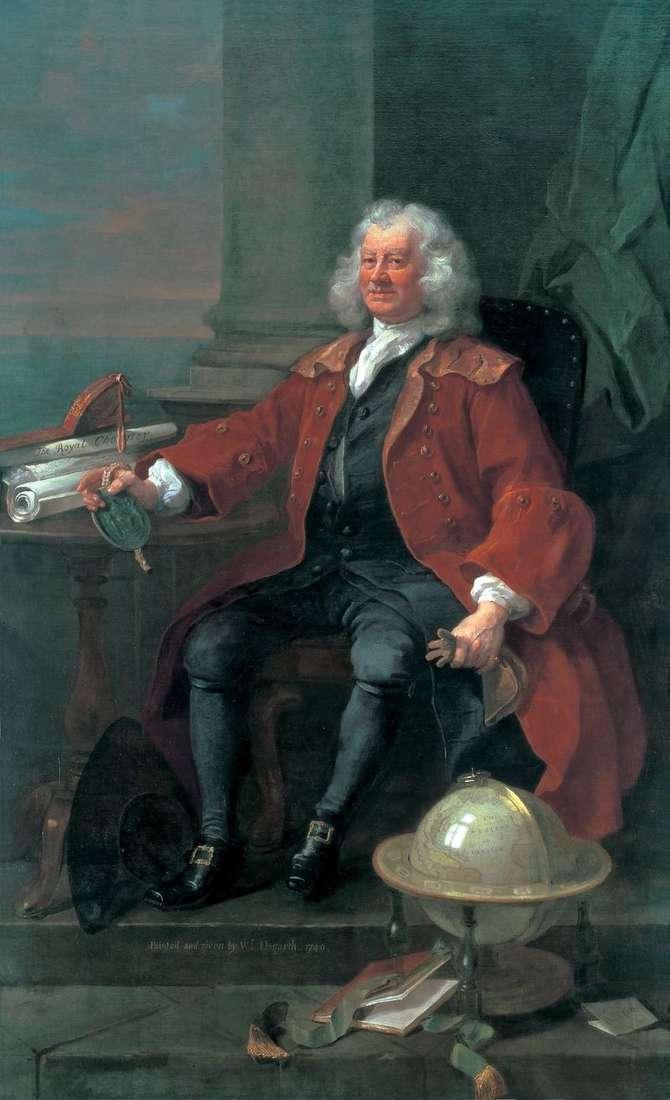 Portret kapitana T. Korem   William Hogarth