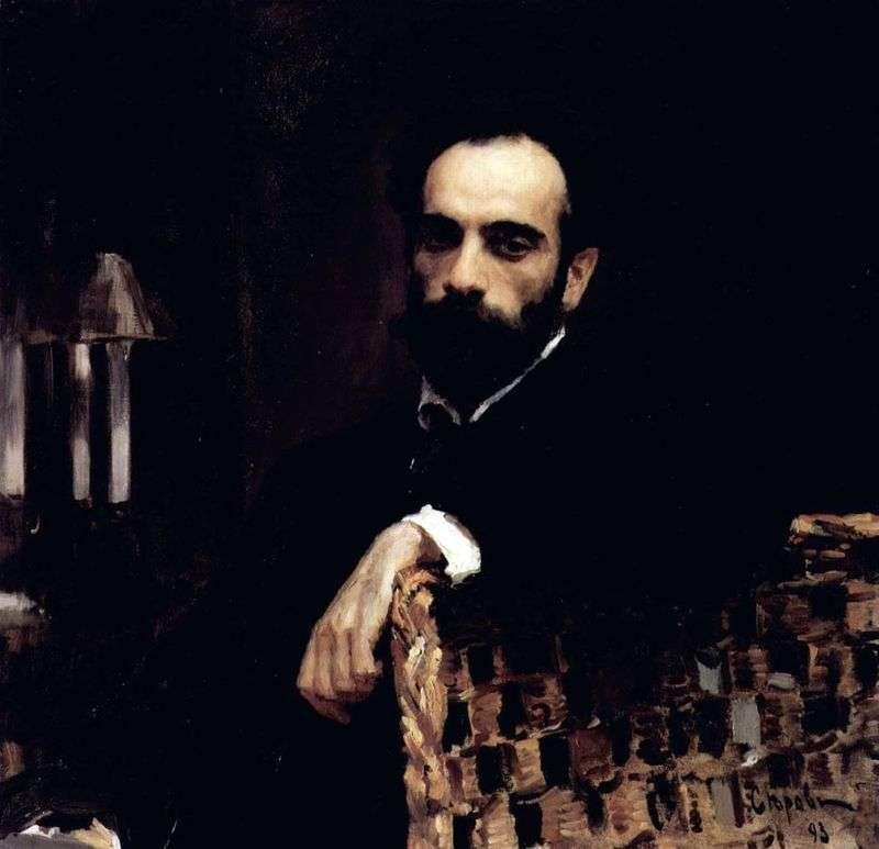 Portret artysty I. I. Levitan   Valentin Serov