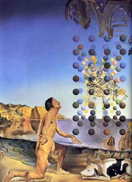 Nagy Dali przed pięcioma regularnymi ciałami   Salvador Dali