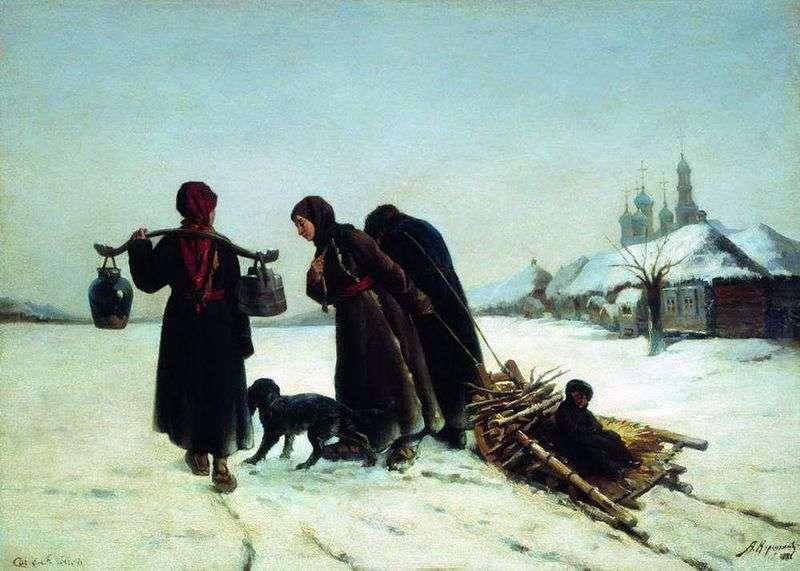 Zimą w wiosce   Aleksiej Korzukhin