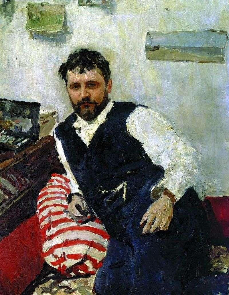 Portret artysty K. A. Korovin   Valentin Serov
