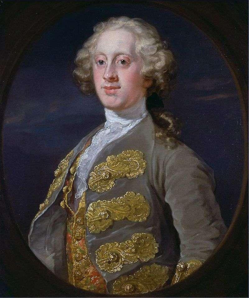 Portret Williama Cavendisha, markiza Hartington   Williama Hogartha