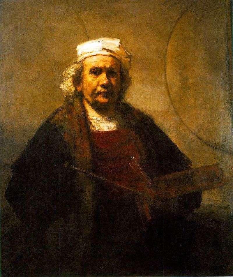 Autoportret w pracy   Rembrandt Harmens Van Rhine