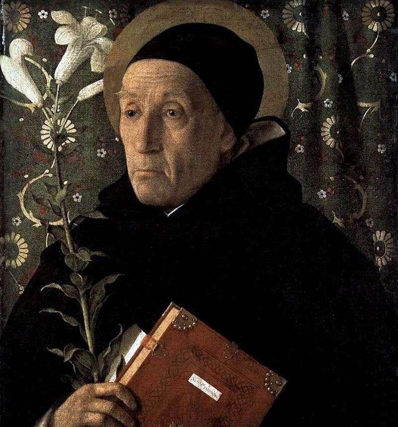 Portret Fra Teodoro da Urbino   Giovanni Bellini