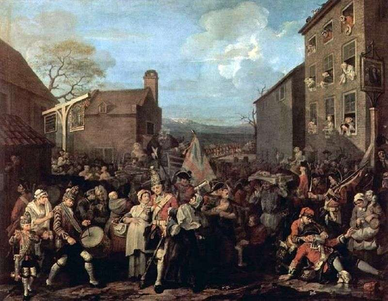 Finchley Trekking   William Hogarth