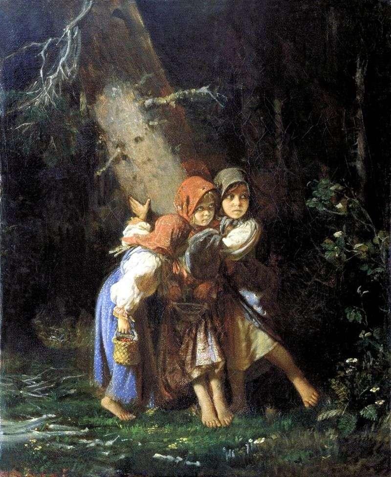 Chłopskie dziewczyny w lesie   Aleksiej Korzukhin