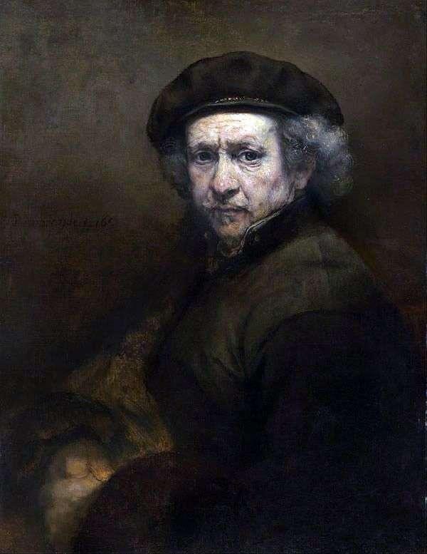 Autoportret autorstwa Rembrandta. Technika lustrzana   Rembrandt Harmens Van Rhine