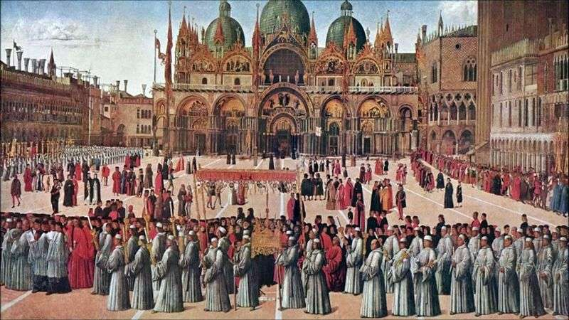 Procesja na Piazza San Marco   Gentile Bellini