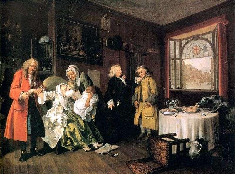 Śmierć hrabiny   William Hogarth