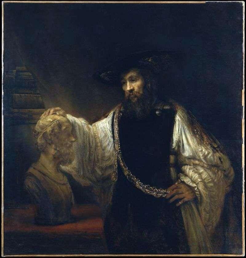 Arystoteles z popiersiem Homera   Rembrandt Harmens Van Rhine