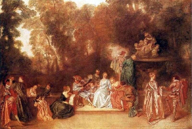 Stone Spectators   Jean Antoine Watteau