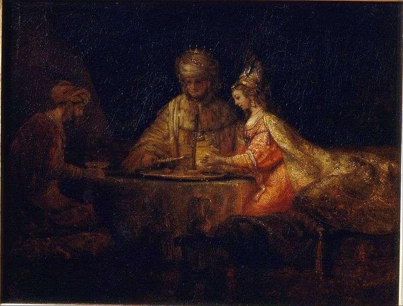 Artaxerxes, Haman i Esther   Rembrandt Harmens Van Rhine
