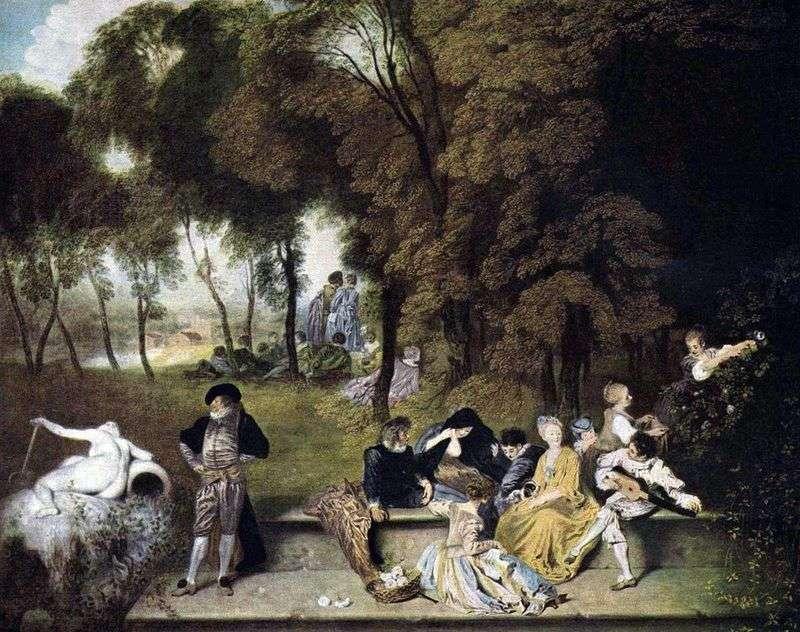 Firma w kolanach natury   Jean Antoine Watteau