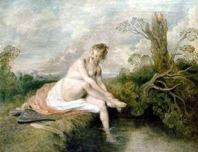 Diana at the Creek   Jean Antoine Watteau