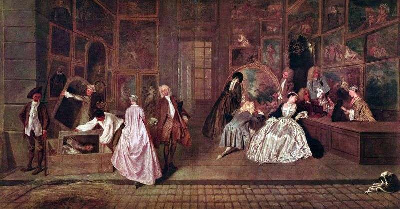 Gersins Shop   Jean Antoine Watteau