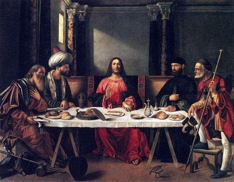 Kolacja w Emmaus   Giovanni Bellini