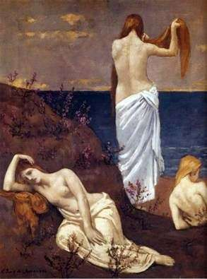 Girls by the Sea   Puvis de Chavannes, Pierre Cecile
