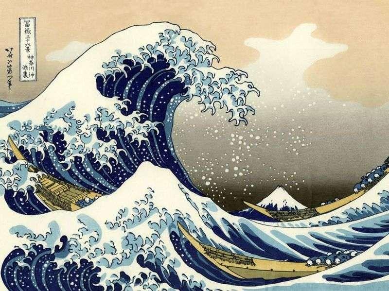 Duża fala w Kanagawa   Katsushika Hokusai