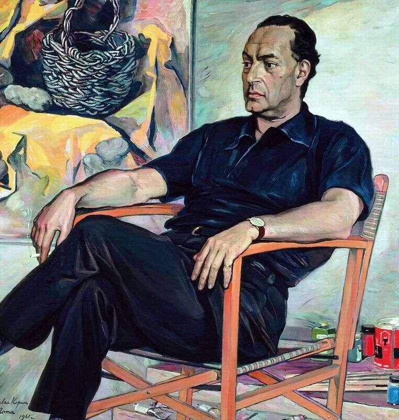 Portret Renato Guttuso   Pavel Korin