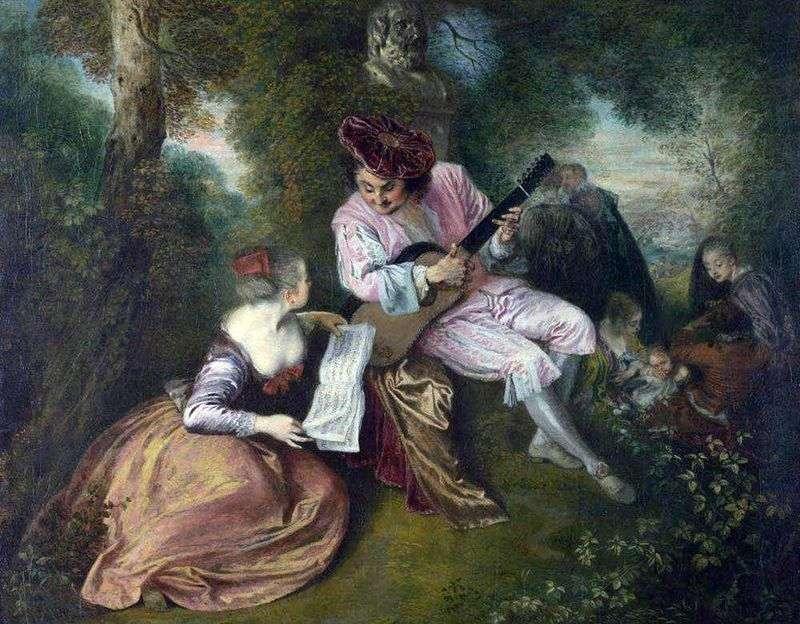 Miłość Gamma   Jean Antoine Watteau
