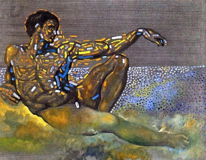 Postać zainspirowana Adamem z sufitu Kaplicy Sykstyńskiej w Rzymie   Salvador Dali