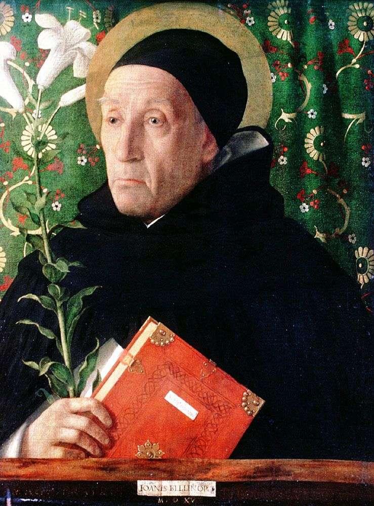 Fra Teodoro Urbinsky na obrazie św. Dominika   Giovanni Bellini
