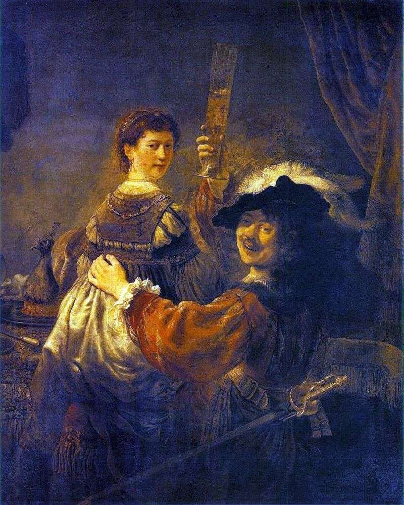 Fun Society (Autoportret z Saskią na kolanach)   Rembrandt Harmens Van Rhine