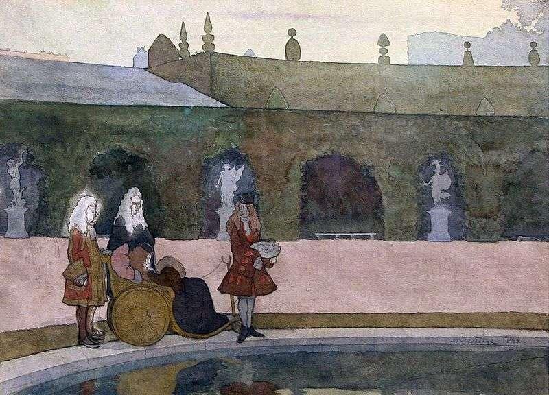 Versailles, Louis XIV karmienie ryb   Alexander Benoit