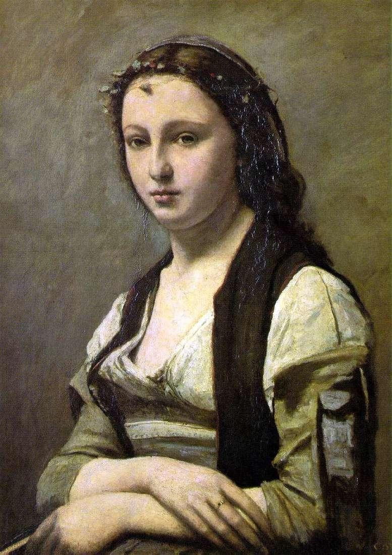 Kobieta z perłą   Camille Corot