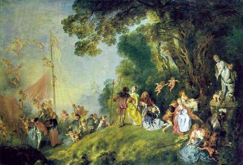 Pielgrzymka na wyspie Kiefer   Jean Antoine Watteau
