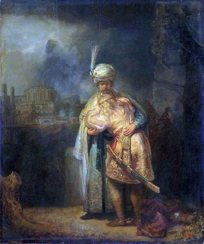 David i Jonathan   Rembrandt Harmens Van Rhine