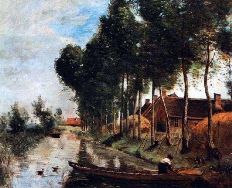 Krajobraz w Arles du Nord   Camille Corot
