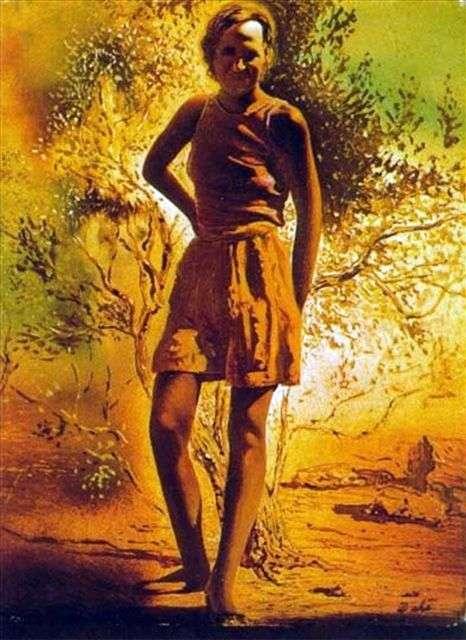 Portret Gala na letnie popołudnie   Salvador Dali