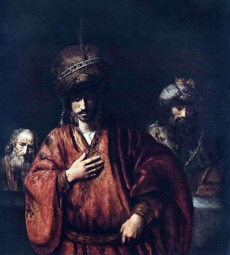 David i Uriah   Rembrandt Harmens Van Rhine