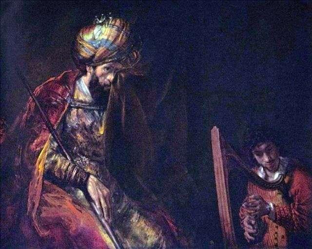 David gra króla Saula   Rembrandta Harmensa van Ren