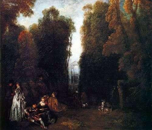 Perspektywa Romantyczny Środowisko   Jean Antoine Watteau