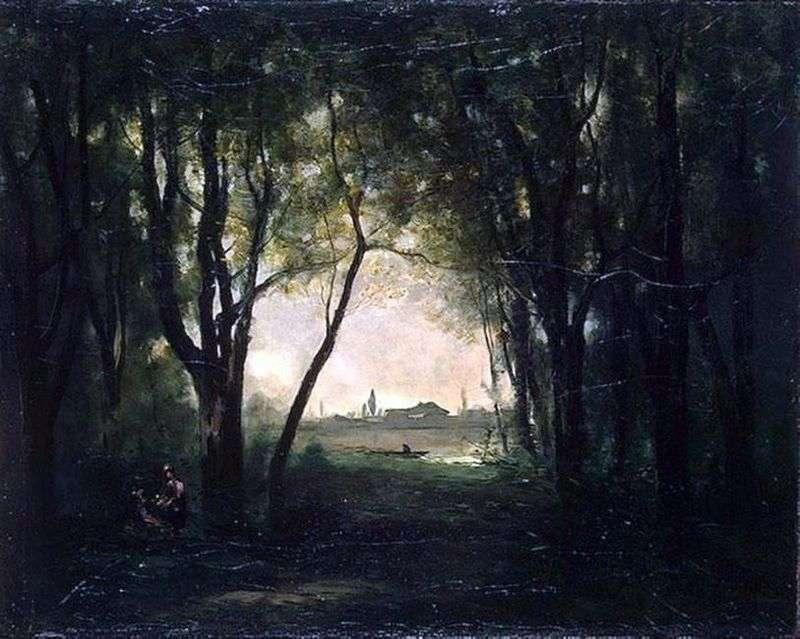Krajobraz z jeziorem   Camille Corot