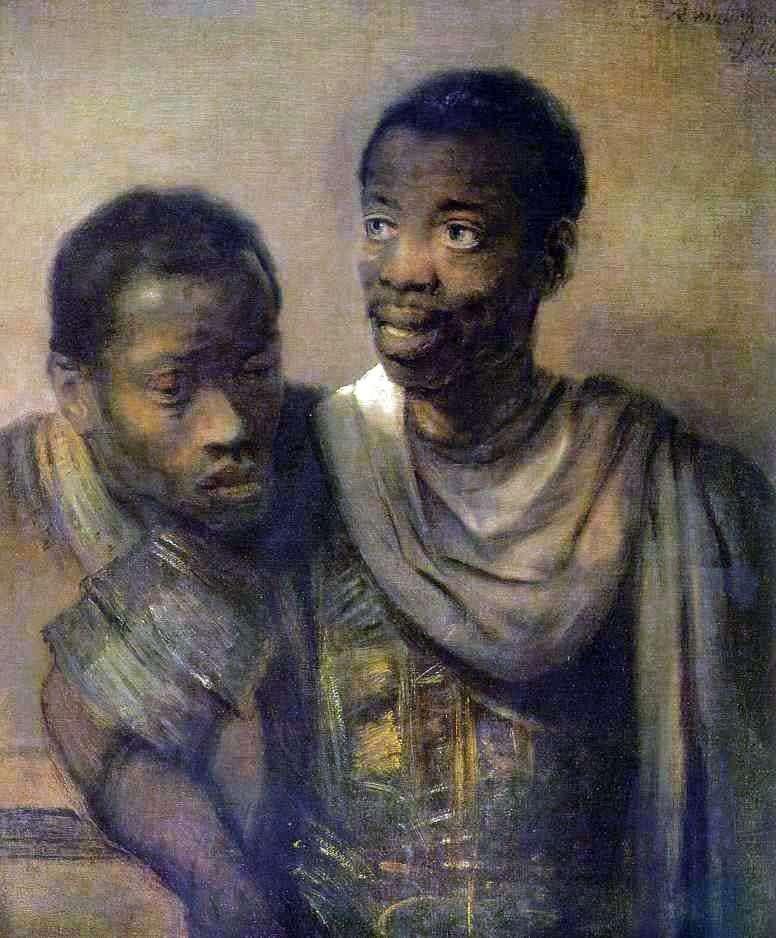 Dwóch czarnych   Rembrandt Harmens Van Rhine