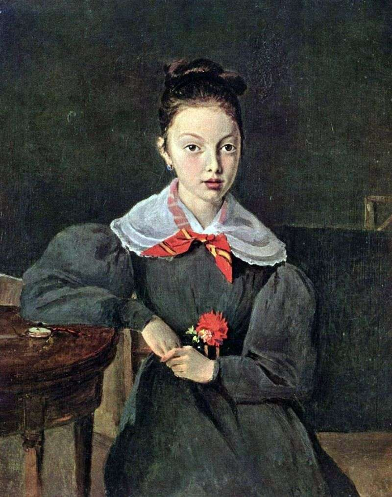 Portret Octavii Sennegon   Camille Corot