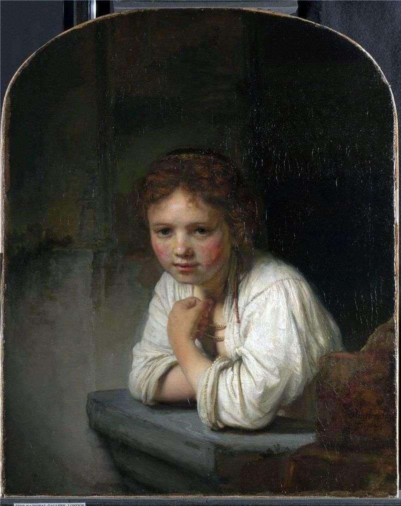 Dziewczyna przy oknie   Rembrandt Harmens Van Rhine
