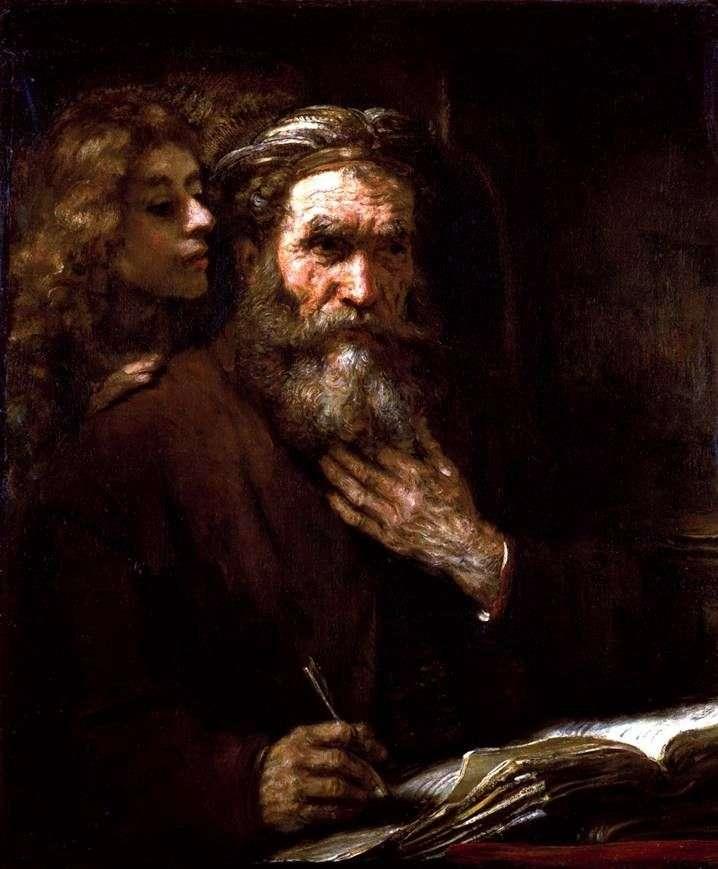 Ewangelista Mateusz i Anioł   Rembrandt Harmens Van Rhine