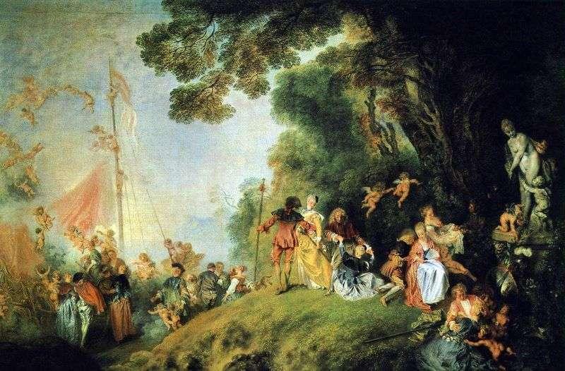 Przybycie na wyspie Kiefer   Jean Antoine Watteau
