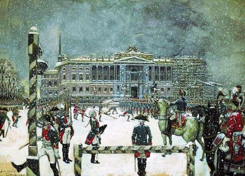 Parada za panowania Pawła I   Alexander Benoit