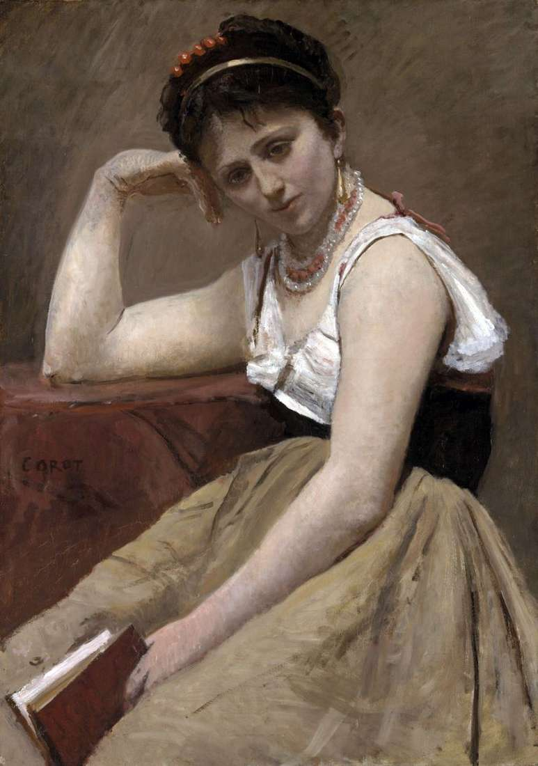Przerwane czytanie   Camille Corot