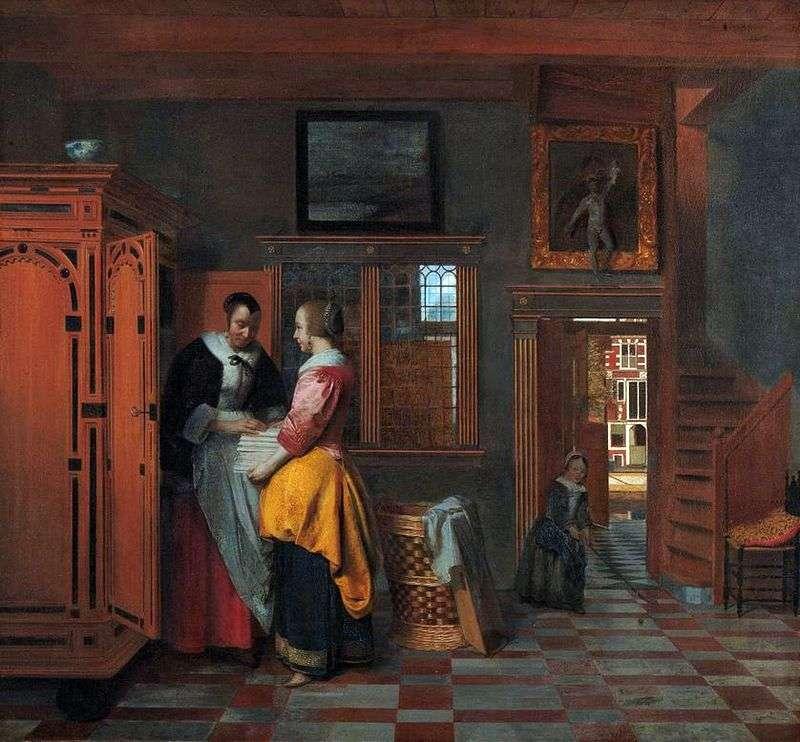 W szafie z bielizną   Peter de Hoch
