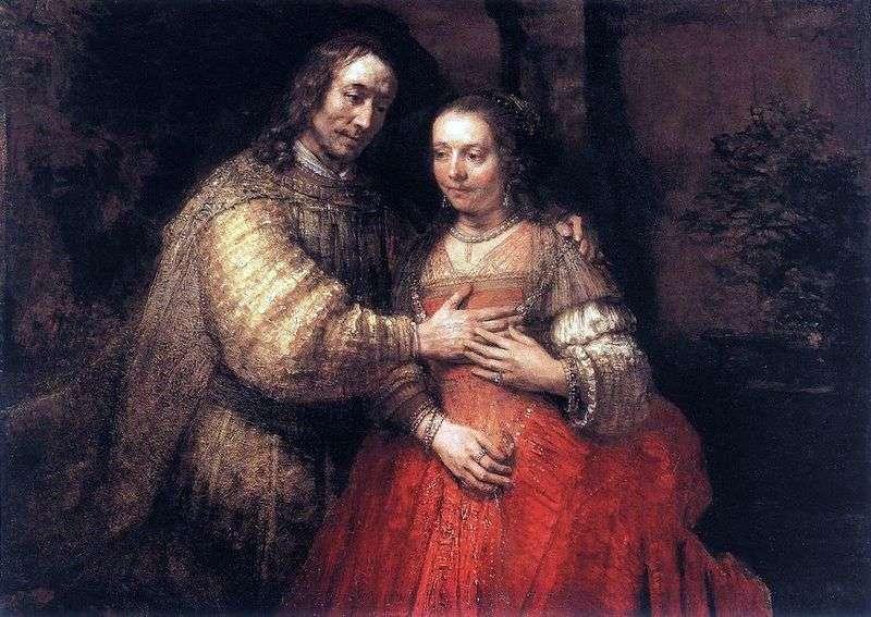 Żydowska oblubienica   Rembrandt Harmens Van Rhine
